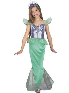 Ariel Little Mermaid Standard Child Complete Costume Kit - Small