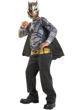 Armored Batman Costume Top for Boys