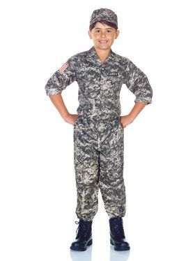 Army Camo Boy's Costume