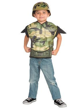 Army Combat Child Muscle Chest Shirt Set