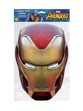 Iron Man Character Mask Costume Accessory