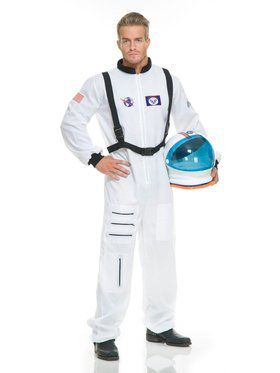 Adult's White Astronaut Costumes