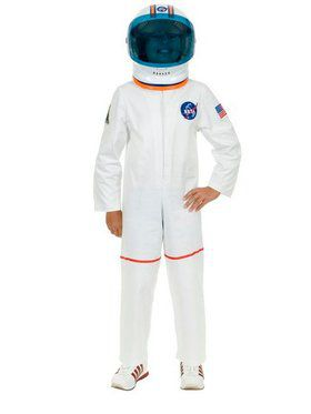 Boy's White Astronaut Suit Costume