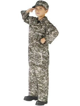 Authentic Camo Soldier Boy's Costume