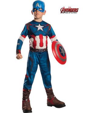 Avengers 2 Captain America Boys Costume