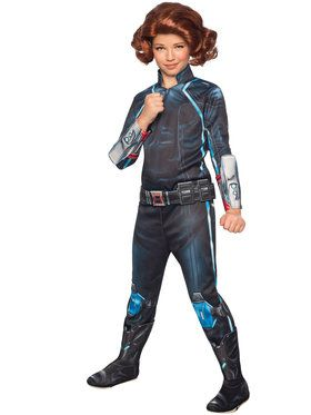 Avengers 2 Deluxe Black Widow Girls Costume