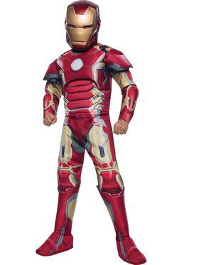 Avengers 2 Deluxe Iron Man Mark 43 Boy's Costume