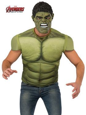 Avengers 2 Hulk Top Men's Costume