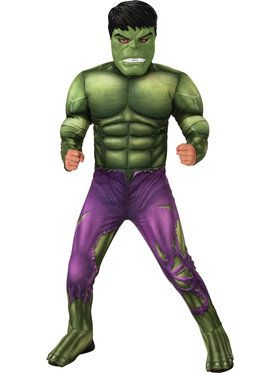 Avengers Hulk Core Costume for Boys Deluxe