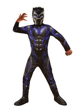 Avengers Endgame Purple Black Panther Battle Costume