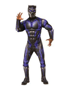 Avengers Endgame Purple Black Panther Battle Costume Deluxe