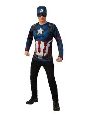 Avengers Endgame Captain America Top Costume for Adults