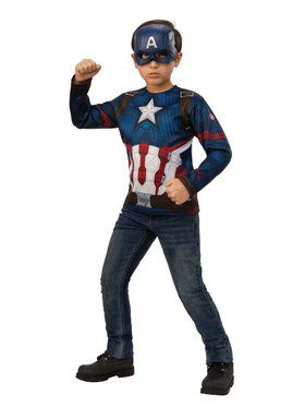 Avengers Endgame Captain America Top Costume for Kids