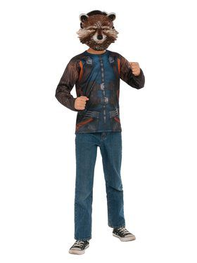 Avengers Endgame Rocket Raccoon Top Costume for Kids