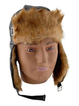 Aviator's Hat with Faux Fur Lining