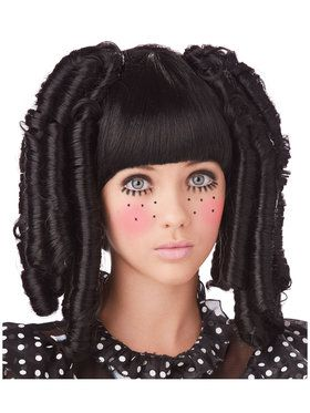 Baby Doll Curls with Bangs Adult Wig