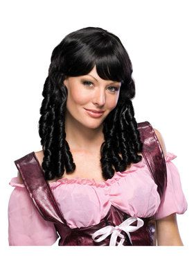 Black Haired Doll Wig