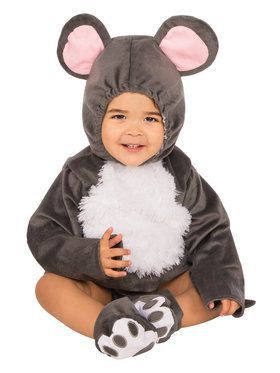 Little Baby Grey Mouse Costume