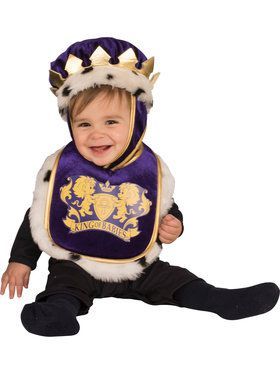 King Baby Bib and Crown Costume