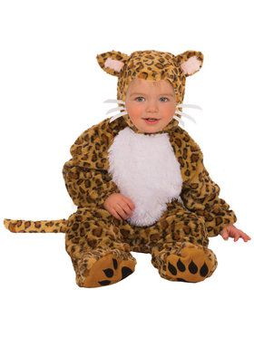 Infant Plush Leopard Costume