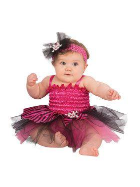 Pink Pirate Baby Tutu Costume