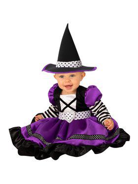 Purple and Black Witch Costume for Babies