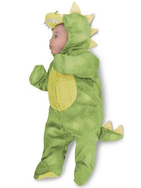 Sleepy Baby Green Dino Costume