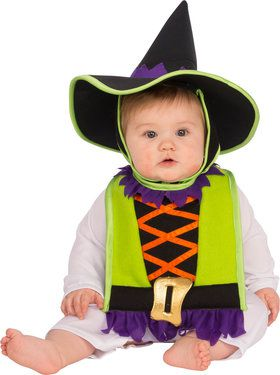 Witch Baby Bib and Hat Costume