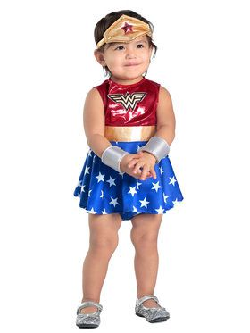 Wonder Woman Baby Dress and Diaper Cover Set Costume