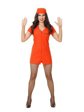 Women's Department of Corrections Jumpsuit Costume