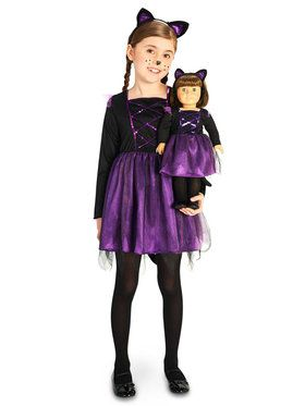 Ballerina Kitty Child Costume with Matching Doll Costume