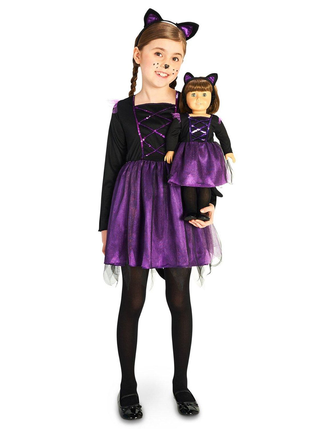 Ballerina Kitty Child Costume With Matching Doll  sc 1 st  Wholesale Halloween Costumes : ballet halloween costumes  - Germanpascual.Com