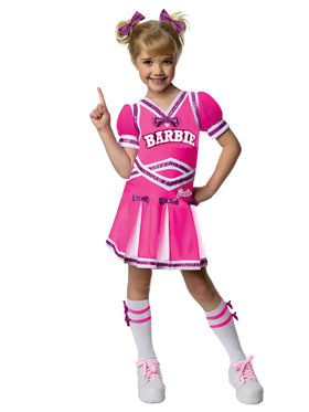 Barbie Cheerleader Girl's Costume