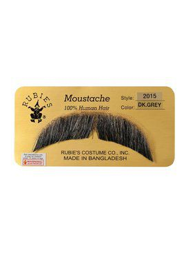 Basic Character Dark Grey Moustache