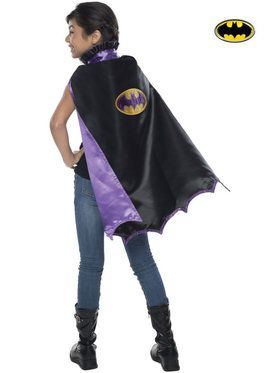 Bat Girl Deluxe Cape Girl's Costume