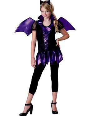 Bat Reputation Tween Girls Costume