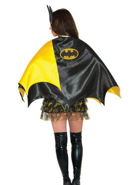 Deluxe Batgirl Black and Yellow Cape