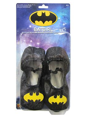 Batgirl Glitter Shoes for Halloween