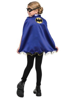 Batgirl Mask and Cape Set for Halloween