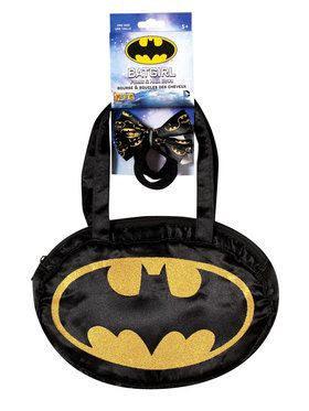 Batgirl Purse & Hair Bow Set