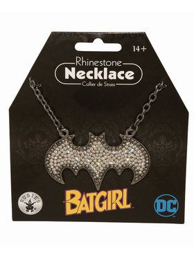 Batgirl Rhinestone Necklace