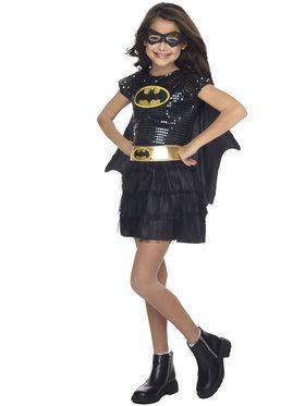 Batgirl Sequin Girls Costume
