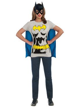 Batgirl T-Shirt Costume Kit For Adults