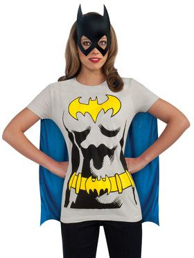 Batgirl Womens Shirt, Mask and Cape