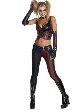 Batman Arkham City Harley Quinn Sexy Adult Costume