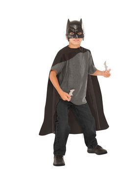 Childrens Batman Costume and Battarang Kit