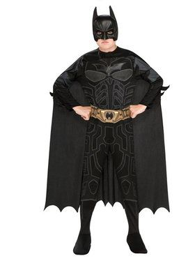 Childrens Deluxe Batman Costume Set with Belt