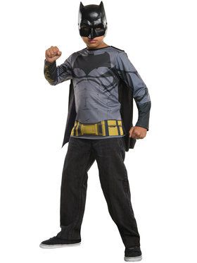 Batman Costume Top for Boys