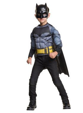 Childrens Deluxe Batman Muscle Shirt Costume