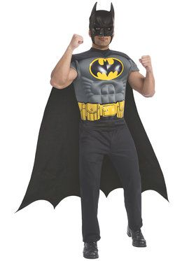 Batman Men's Muscle Chest Top Costume